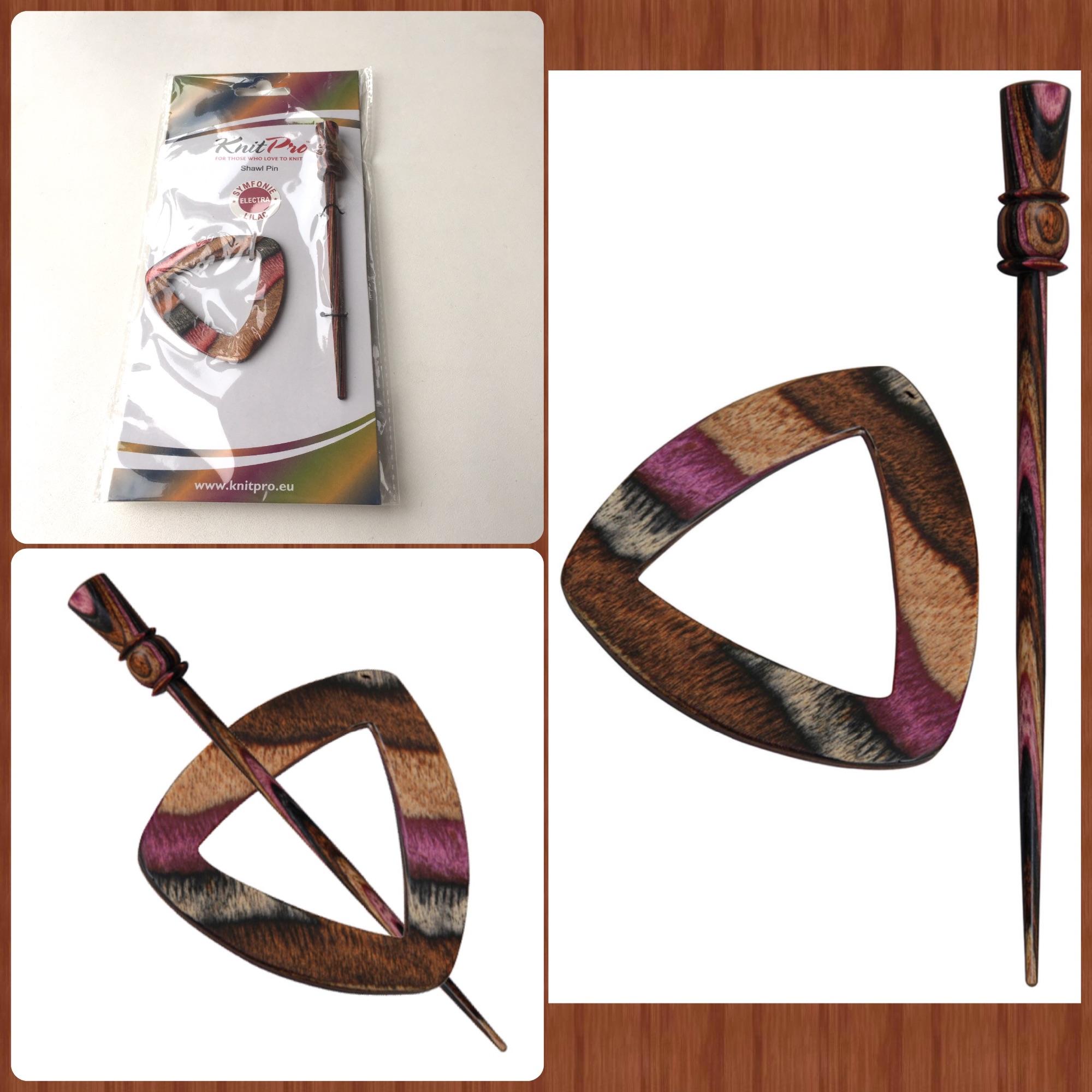 Knitpro symfonie wood lilac shawl pin electra knit pro