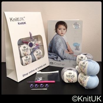 Baby Blanket Kit (KnitUK). Crochet
