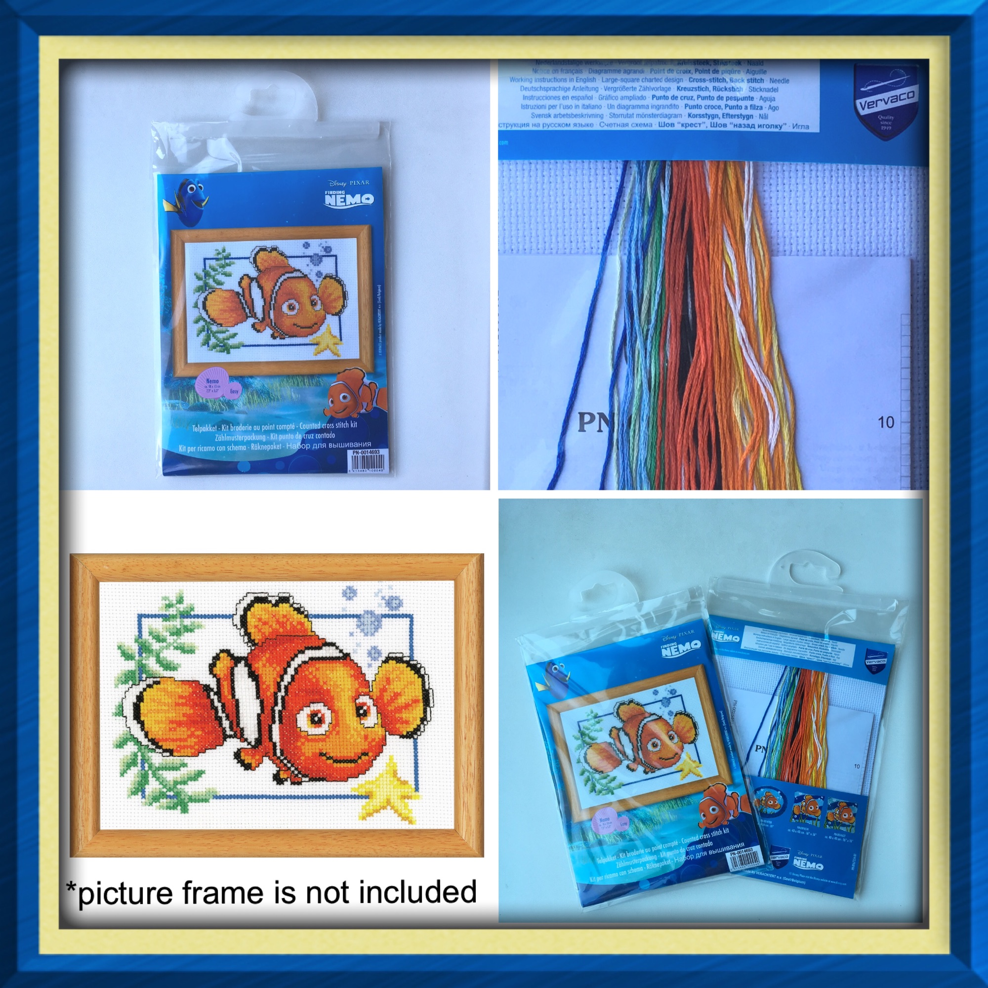 Vervaco nemo cross stitch kit 4 pics