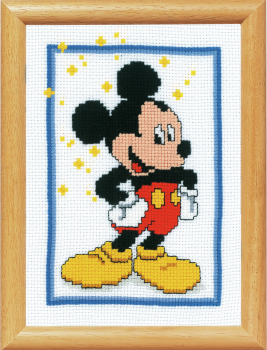 Cross Stitch Kit for framing: Mickey Mouse (Vervaco).