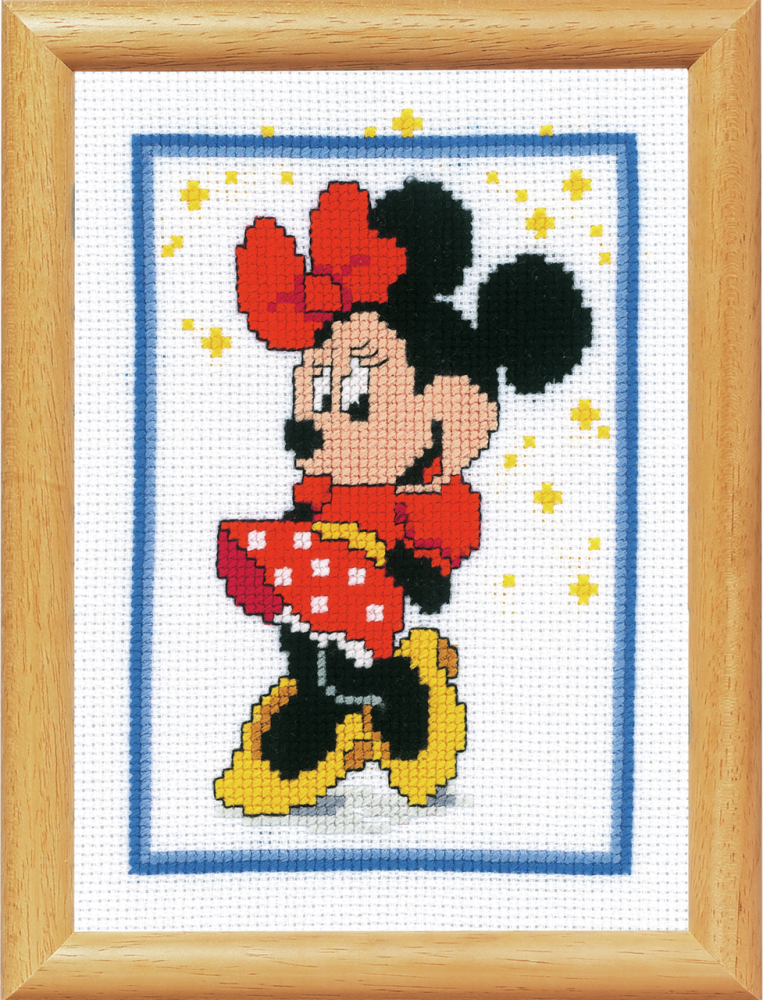 Cross Stitch Kit for picture frame: Minnie Mouse (Vervaco).