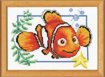 Cross Stitch Kit for framing: Nemo (Vervaco).