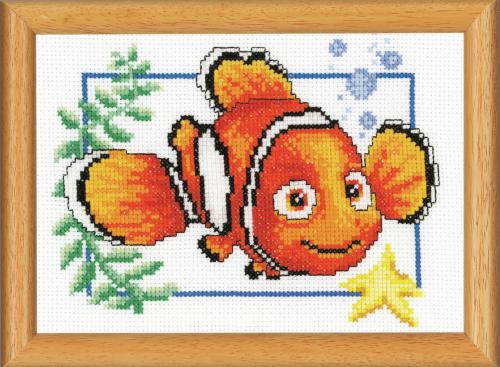 Cross Stitch Kit for picture frame: Nemo (Vervaco).