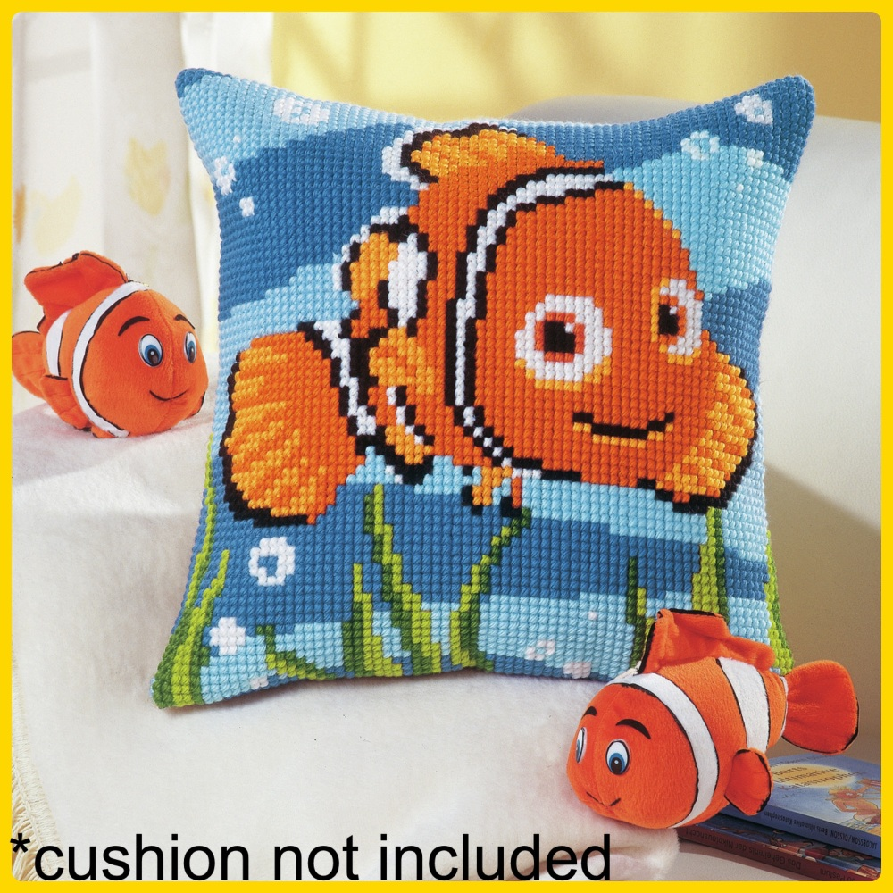 Vervaco cross stitch tapestry finding nemo cushion cover