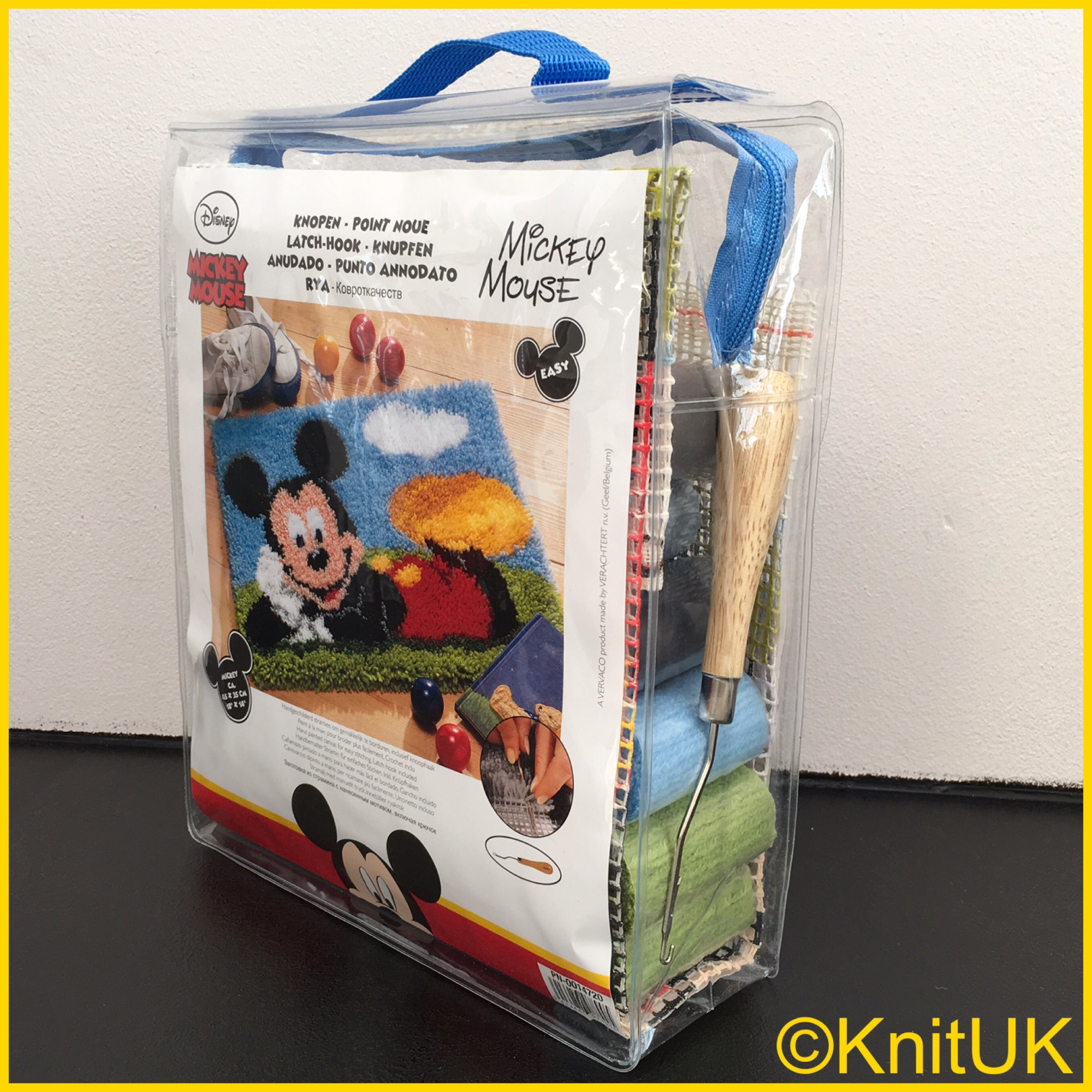 vervaco latch hook kit rug mickey mouse and hook