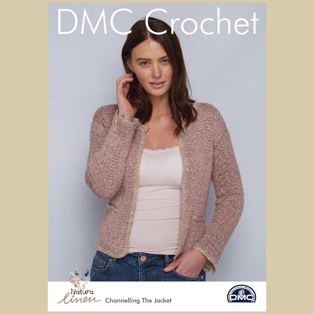 Dmc natura linen Channelling the jacket crochet pattern