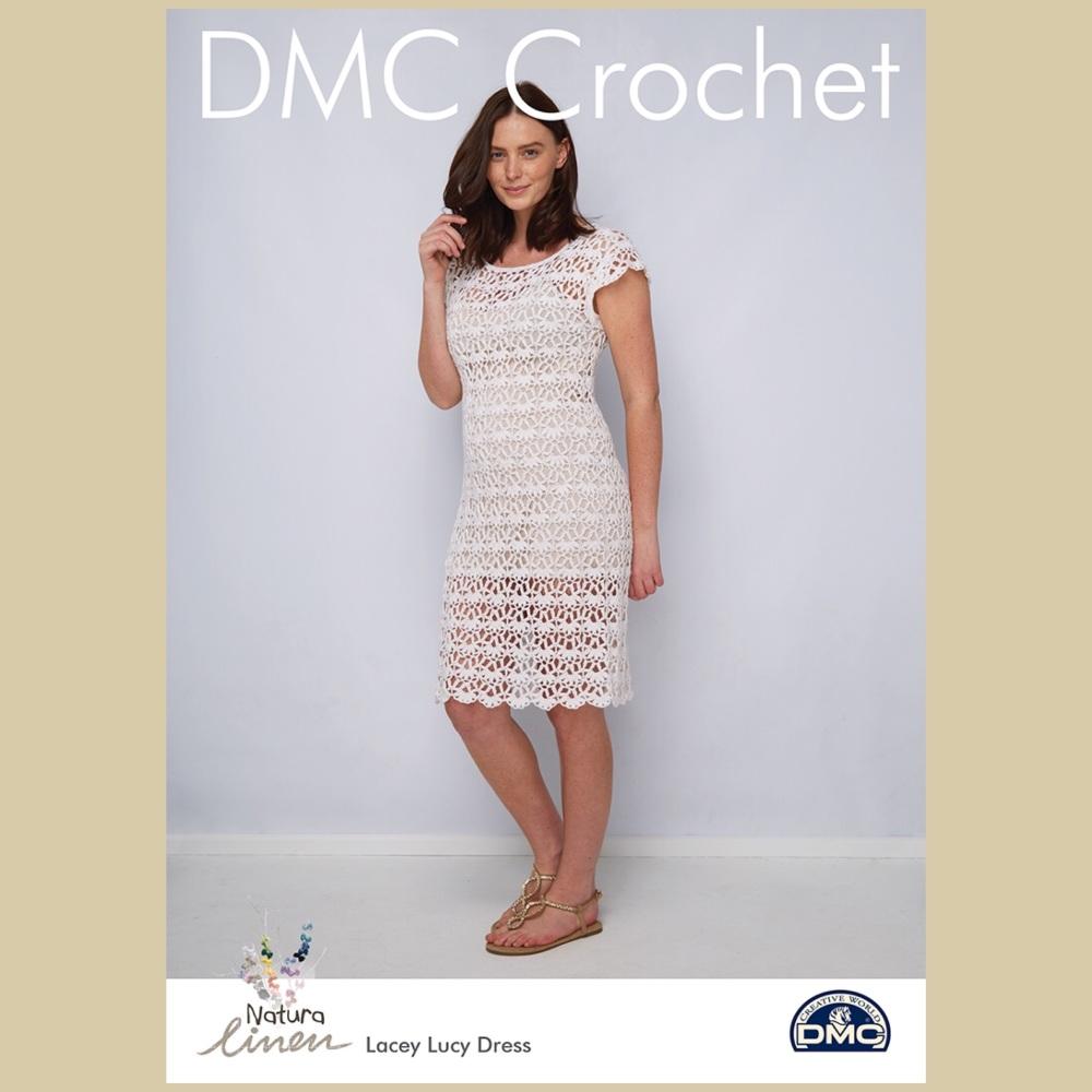 Dmc natura linen Lacey lucy dress crochet pattern