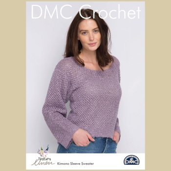 DMC Kimono Sleeve Sweater - Crochet Pattern Leaflet (by Susie Johns)