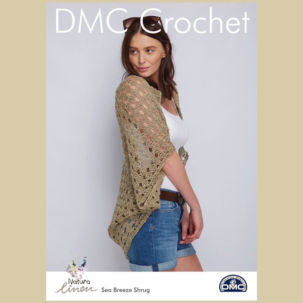 DMC Sea Breeze Shrug - Crochet Pattern Leaflet (by Simone Francis)