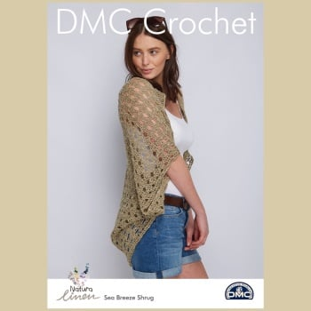 DMC Sea Breeze Shrug - Crochet Pattern Leaflet (by Simone Francis)
