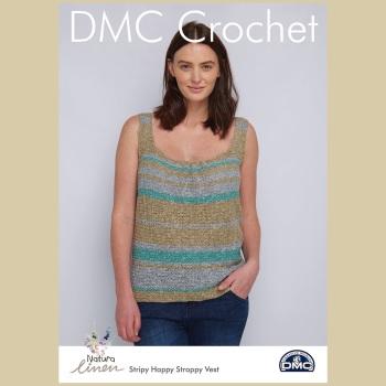 DMC Stripy Happy Strappy Vest - Crochet Pattern Leaflet (by Jenny Reid)