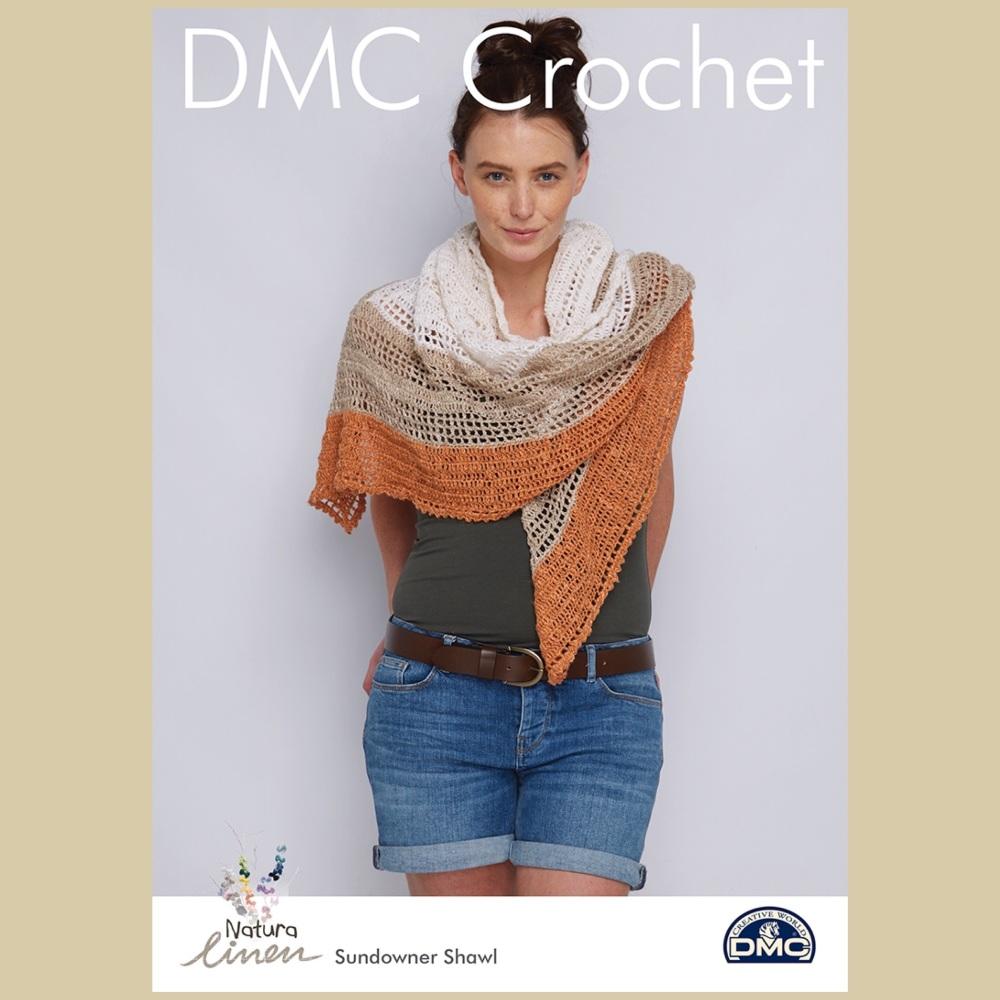 DMC Sundowner Shawl - Crochet Pattern Leaflet (by Cassie Ward)
