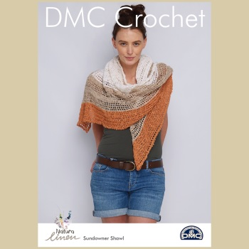 DMC Sundowner Shawl - Crochet Pattern Leaflet (by Cassie Ward)