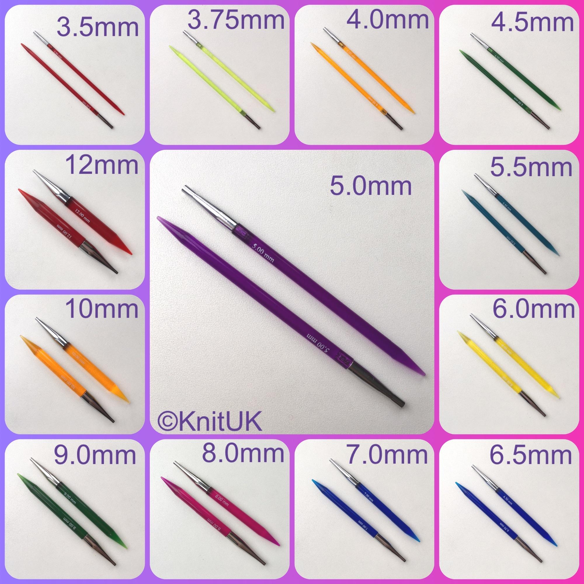 KnitPro Trendz interchangeable knitting needle sizes