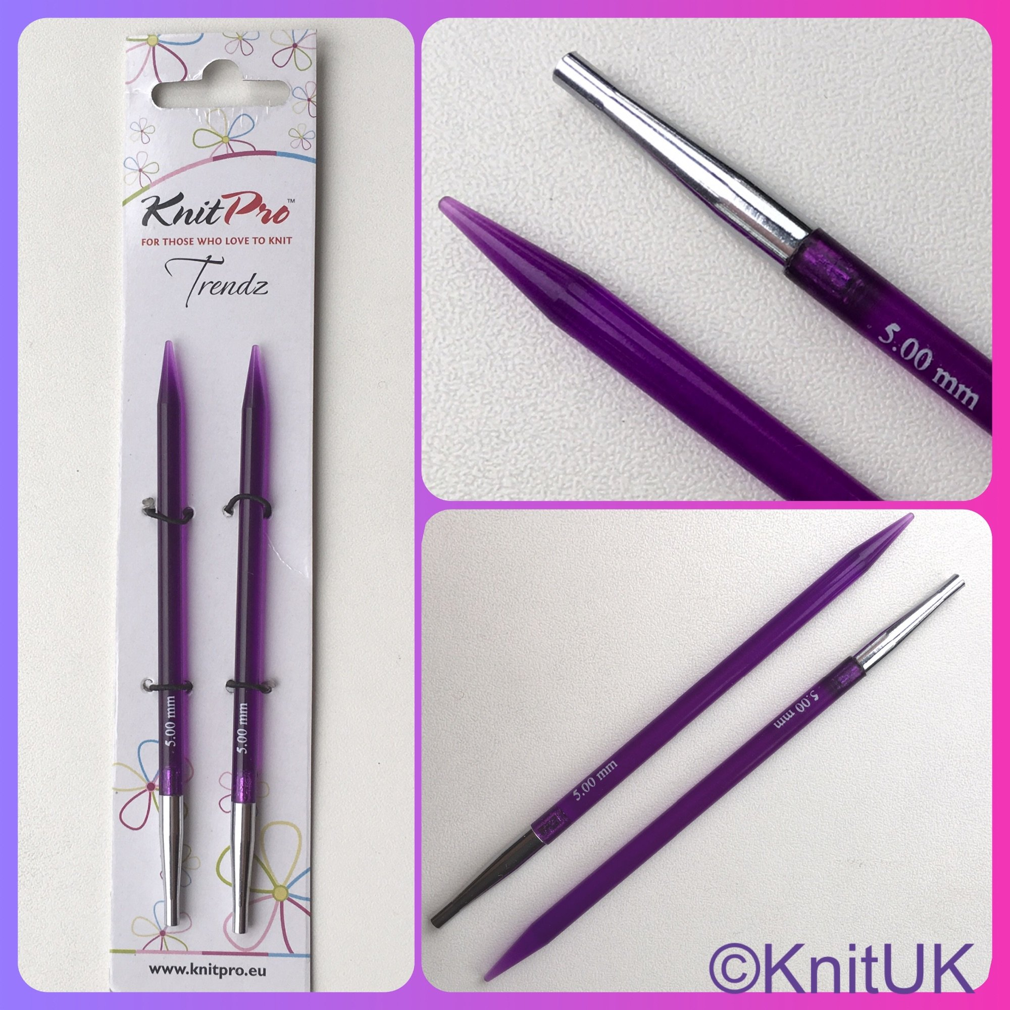 KnitPro Trendz interchangeable knitting needle size 5.0mm 3 pictures