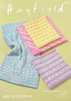 Hayfield pattern: Blankets in Hayfield Baby Blossom DK. Leaflet ( Knitting)