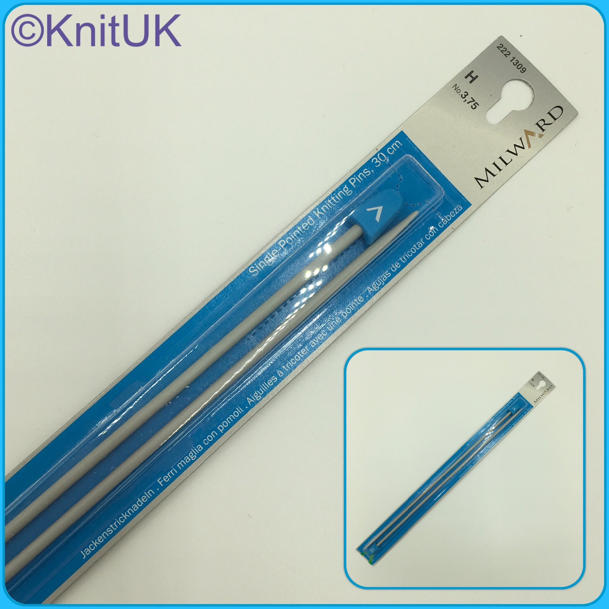 Milward 30cm knitting needles single point pins 2pics