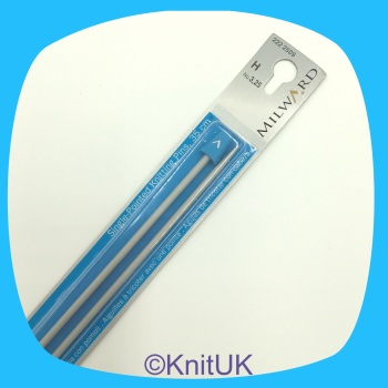 Milward 35cm Single Point Knitting Needles. Aluminium. Sizes 2.0 to 5.0mm. Price starts at
