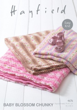 Hayfield pattern: Blankets in Hayfield Baby Blossom Chunky. Leaflet ( Knitting)