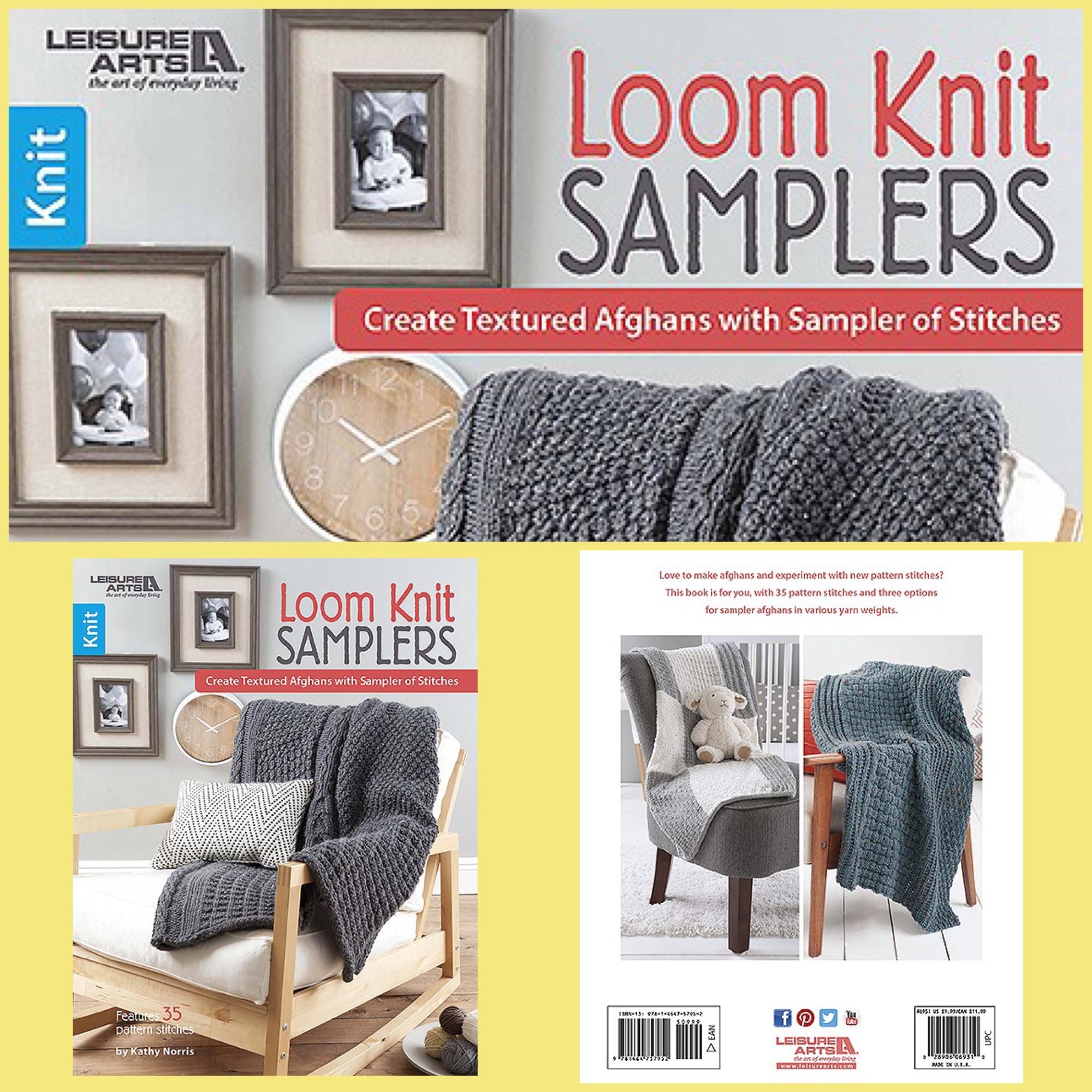 Leisure arts book loom knit samplers kathy norris 2017