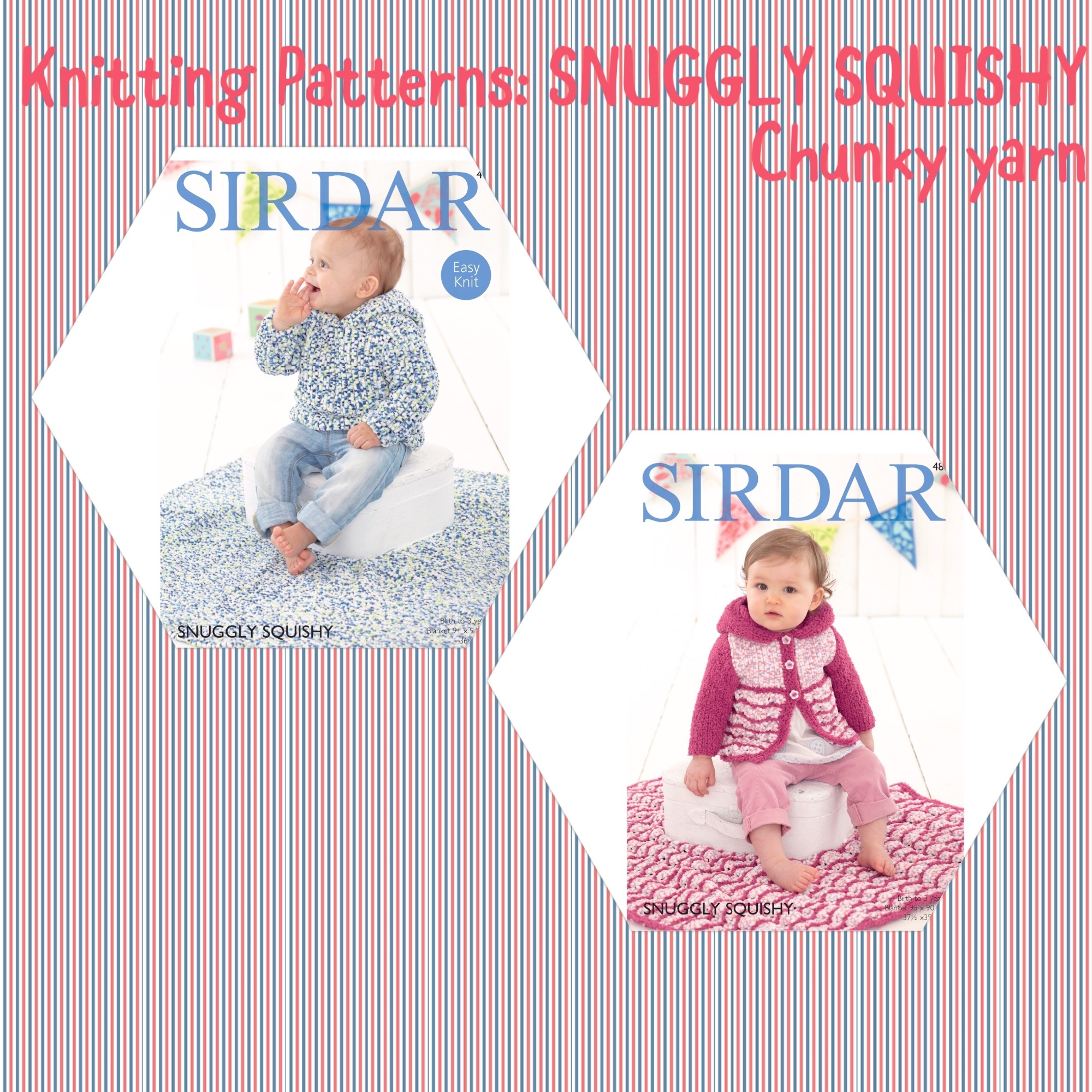 Sirdar snuggly squishy knitting baby patterns cardigan blanket