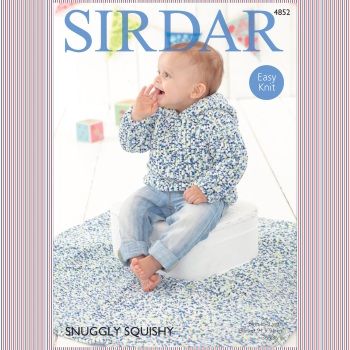 Sirdar Pattern: Sweater and Blanket in Sirdar Snuggly Squishy. Leaflet (Knitting)