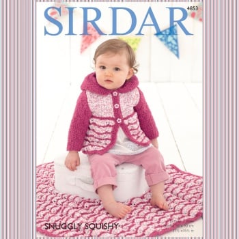 Sirdar Pattern: Baby Girl's Hooded Coat and Blanket in Sirdar Snuggly Squishy & Snuggly Snowflake Chunky. Leaflet (Knitting)