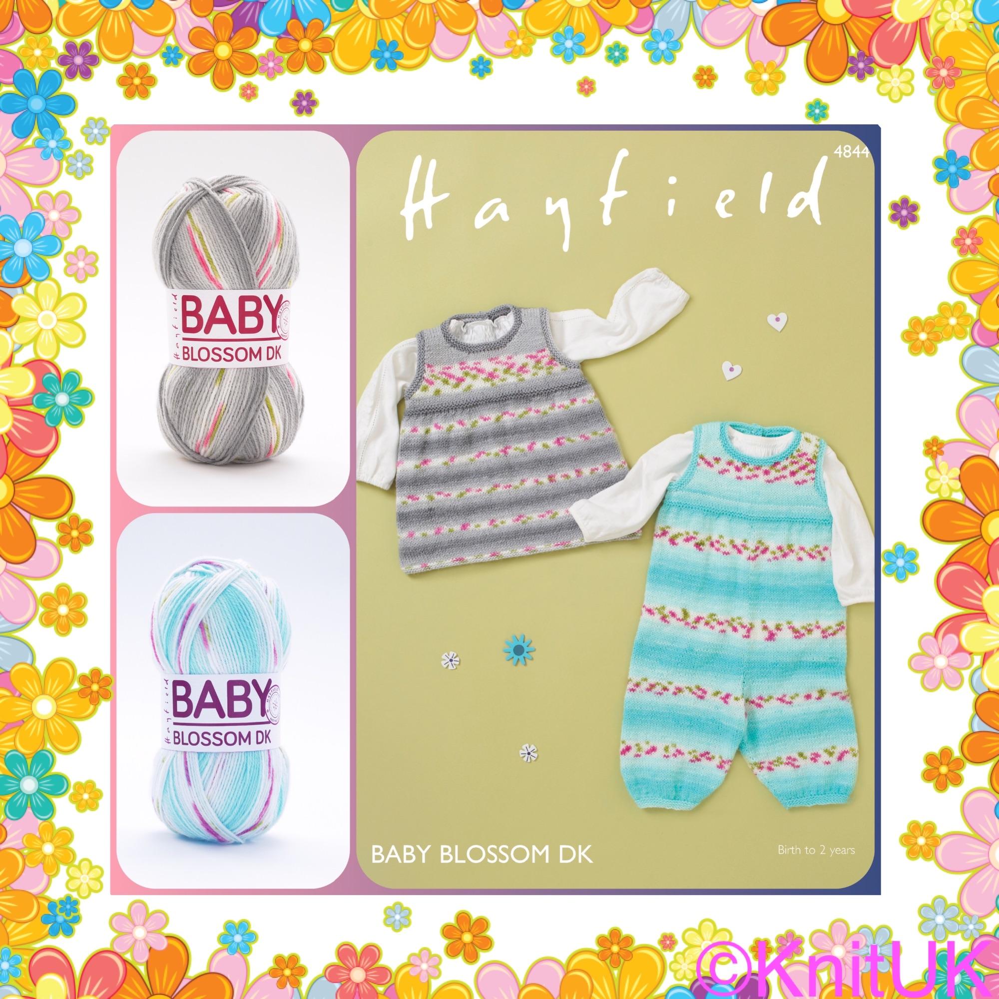 Knituk baby blossom dk knitting kit hayfield pattern and yarn balls