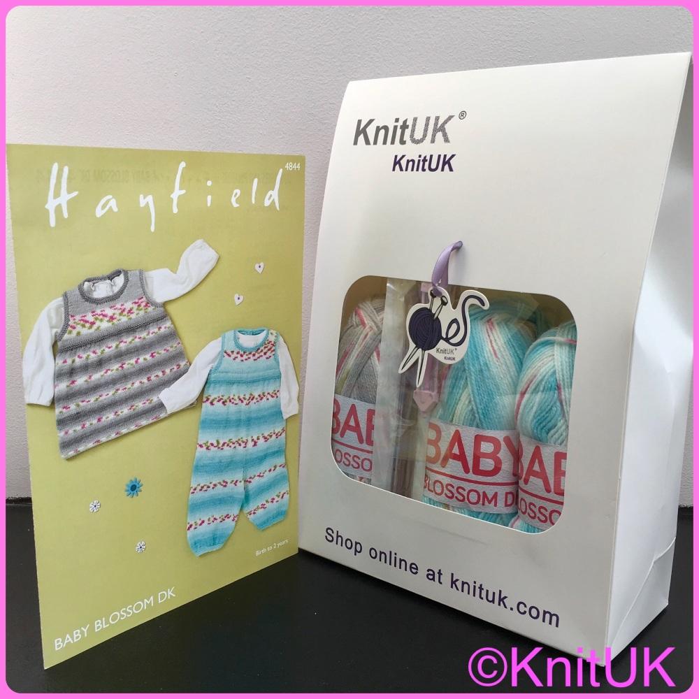 KnitUK Baby Blossom Knitting Kit.