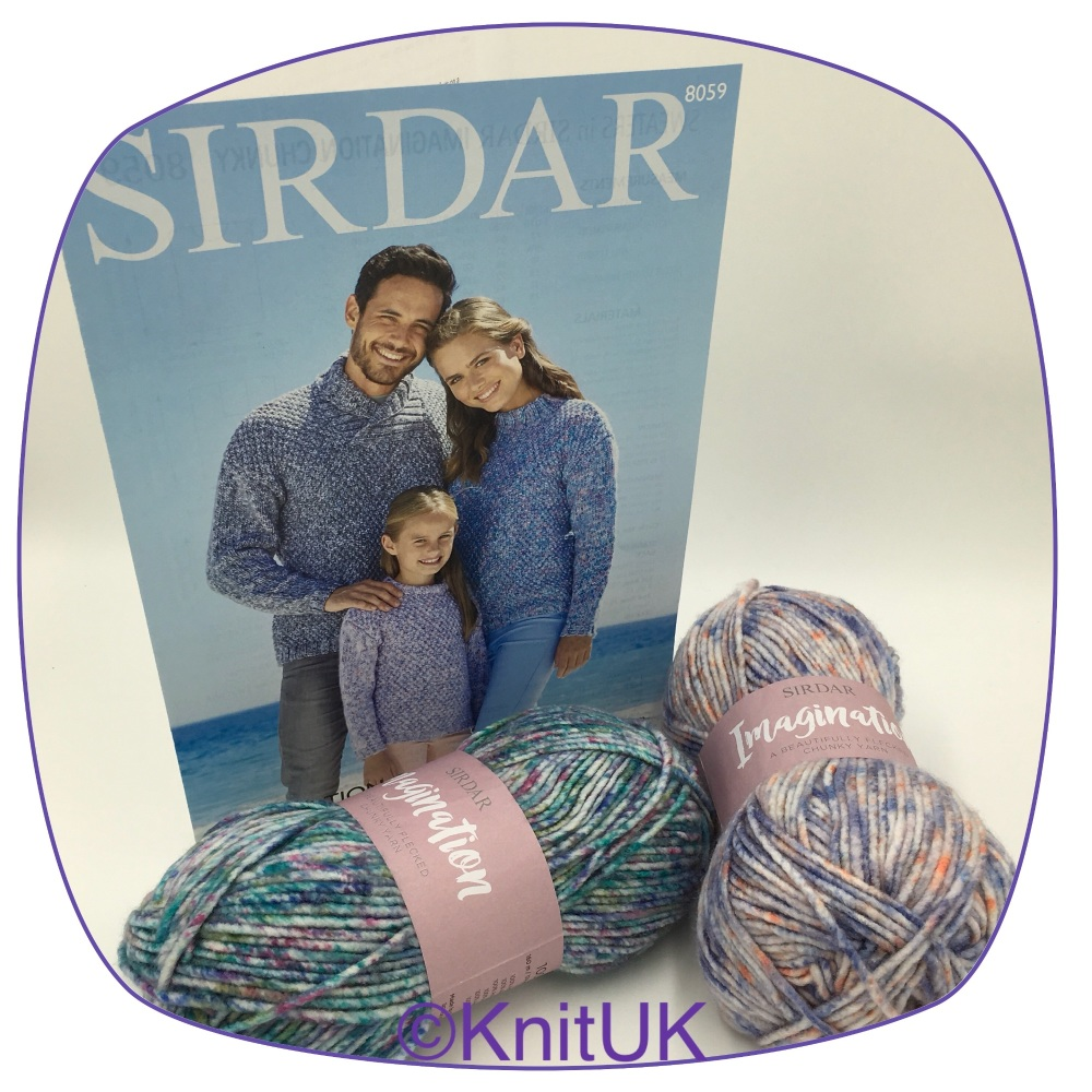 sirdar imagination chunky pattern 8059 sweters