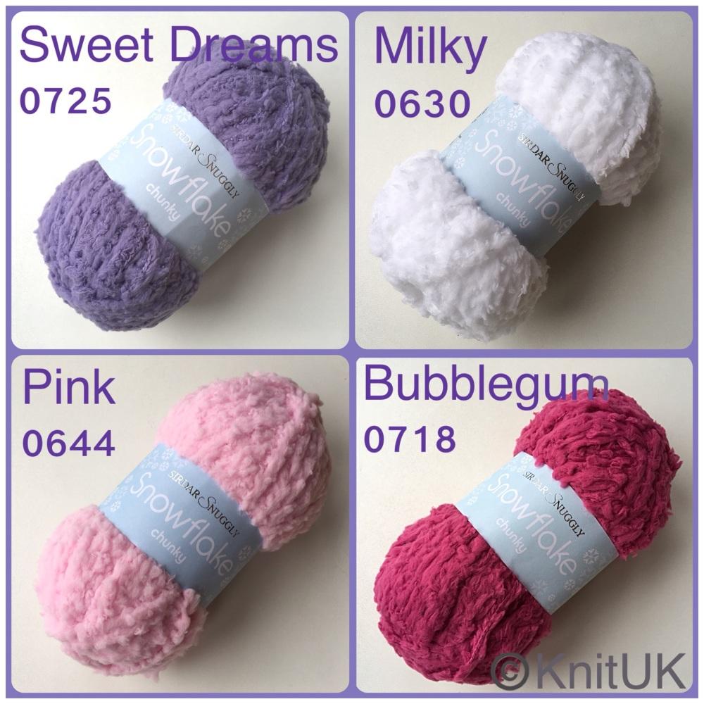 Sirdar snuggly snowflake chunky yarn colour sweet dreams milky pinky bubble