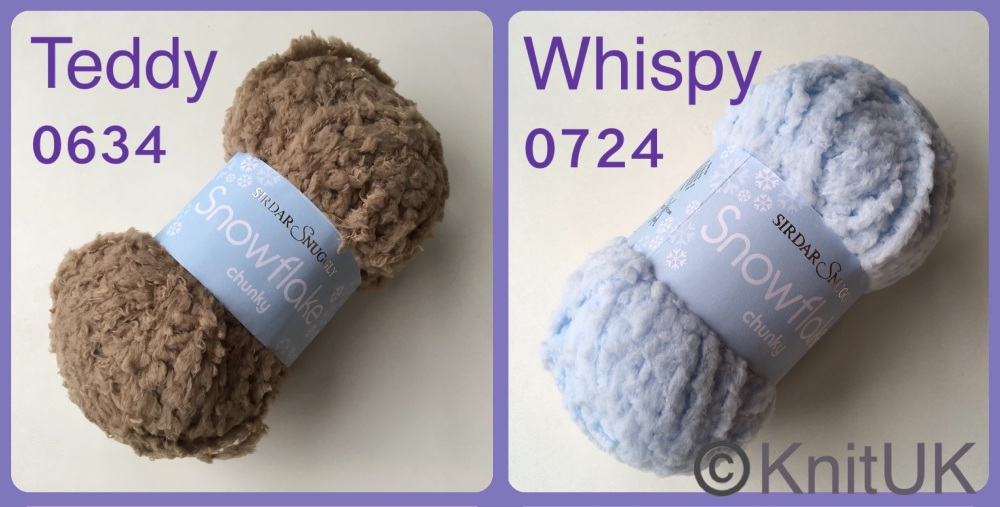 Sirdar snuggly snowflake chunky yarn colour teddy whispy