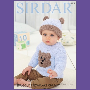 Sirdar pattern: Sweater and Hat in Sirdar Snuggly Snowflake Chunky. Leaflet 4825 ( Knitting)