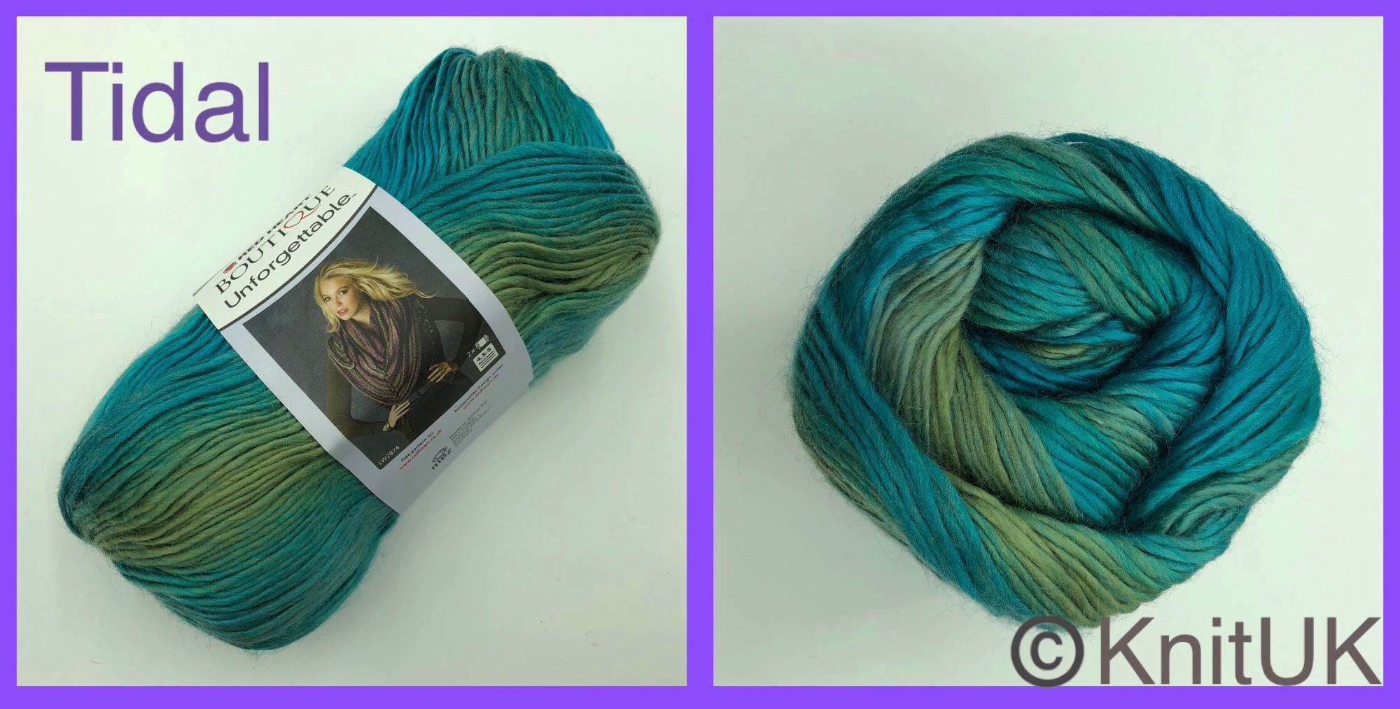 Red Heart boutique unforgettable yarn tidal colour