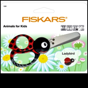 Scissors. Fiskars Animals for Kids. Ladybird.