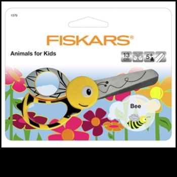 Scissors. Fiskars Animals for Kids. Bee.