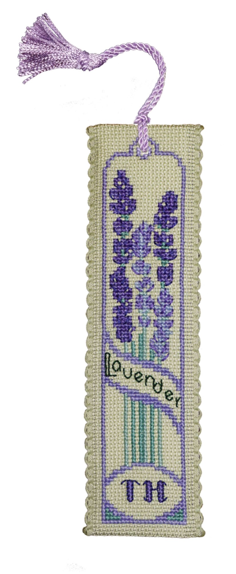 BOOKMARK Lavender. Cross-Stitch Kit by Textile Heritage