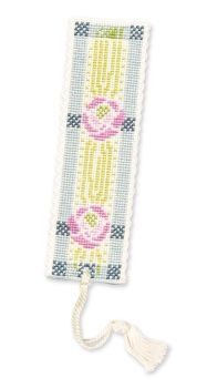 BOOKMARK Mackintosh Rose. Cross-Stitch Kit by Textile Heritage