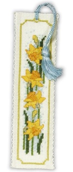 BOOKMARK Daffodils. Cross-Stitch Kit by Textile Heritage