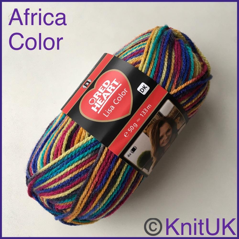 red heart lisa dk yarn africa color