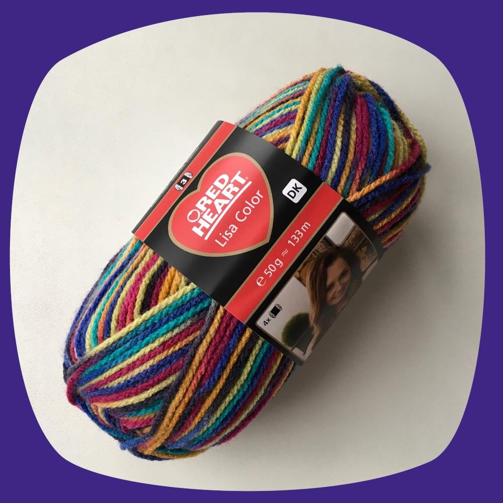 Red Heart Lisa Color (50g). DK yarn for knitting and crochet.