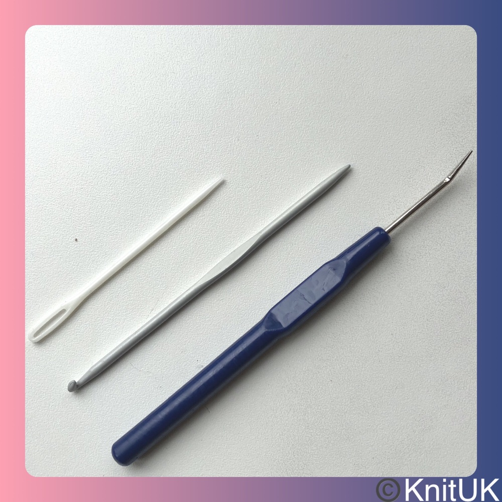 Knitting Loom Hook & Double-end Tool. Navy