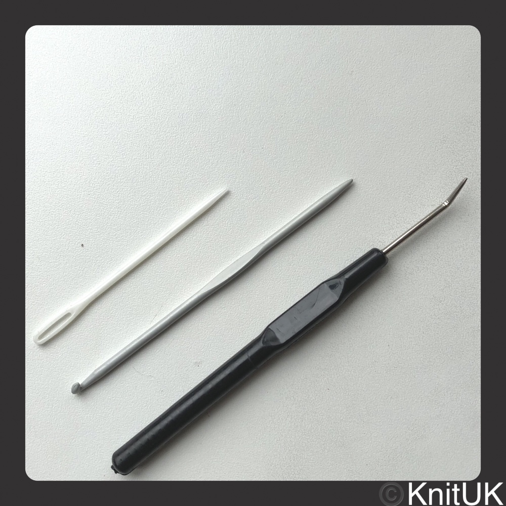 Knitting Loom Hook & Double-end Tool. Black