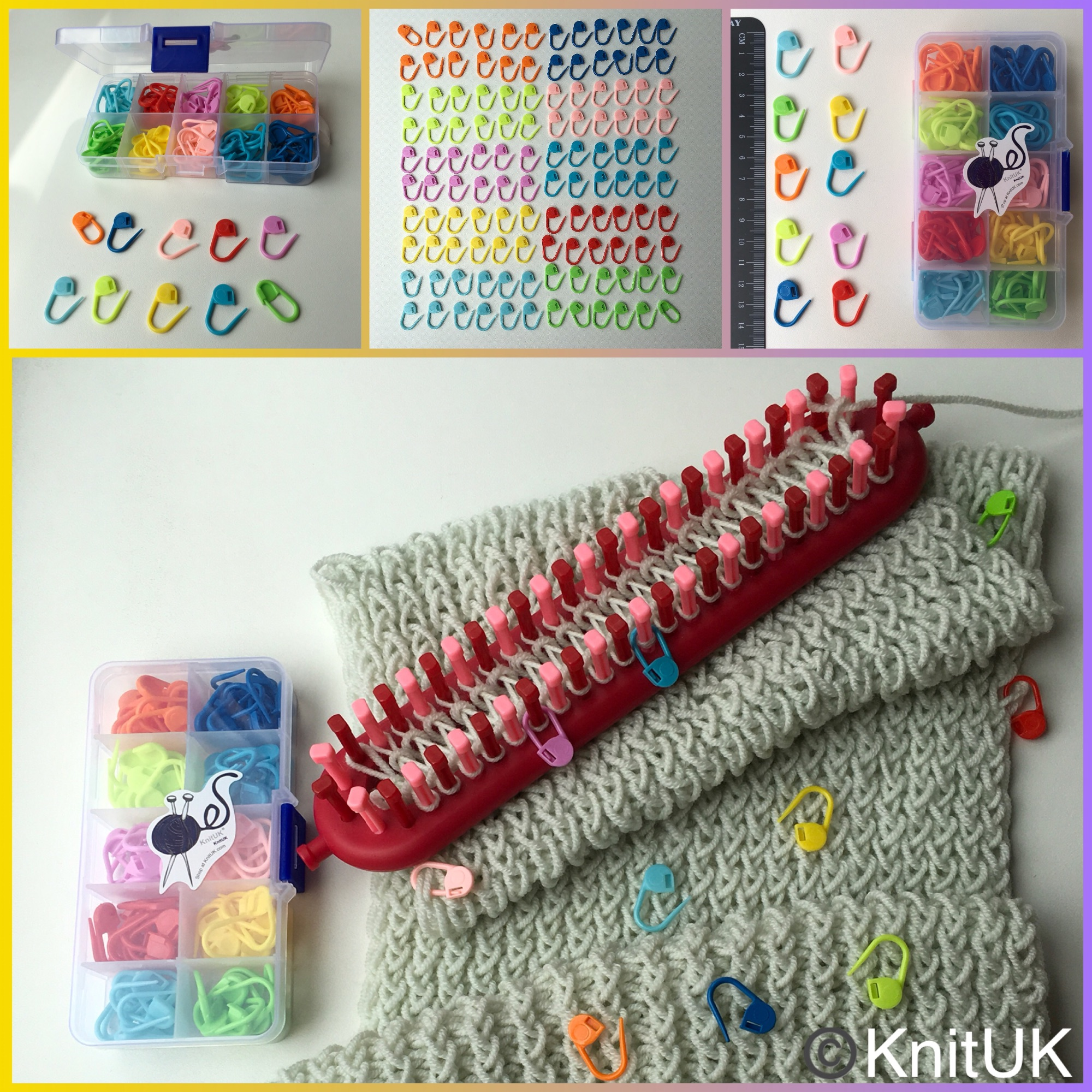knituk locking stitch markers box 120 multicolour 4 pics