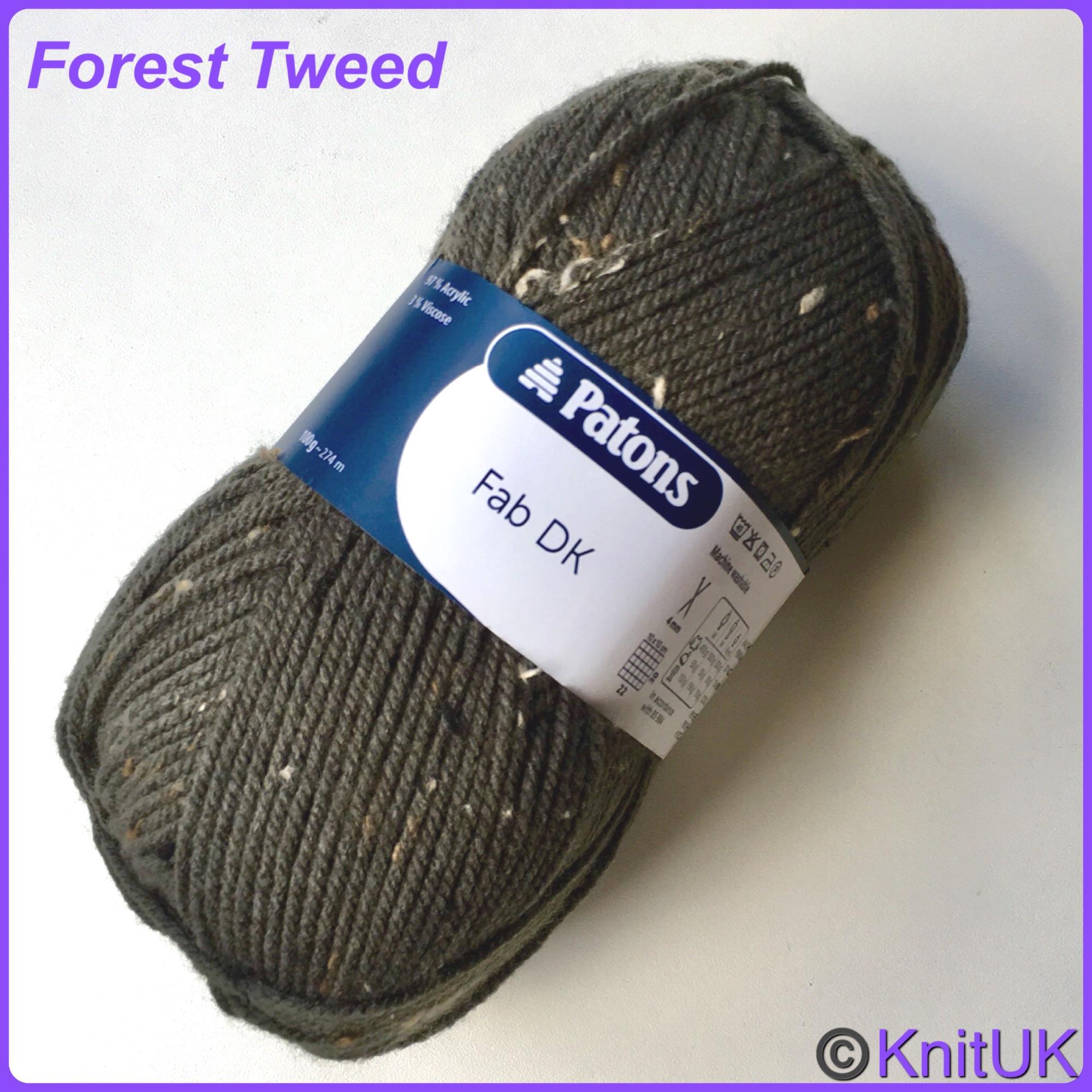 patons Fab DK yarn forest tweed