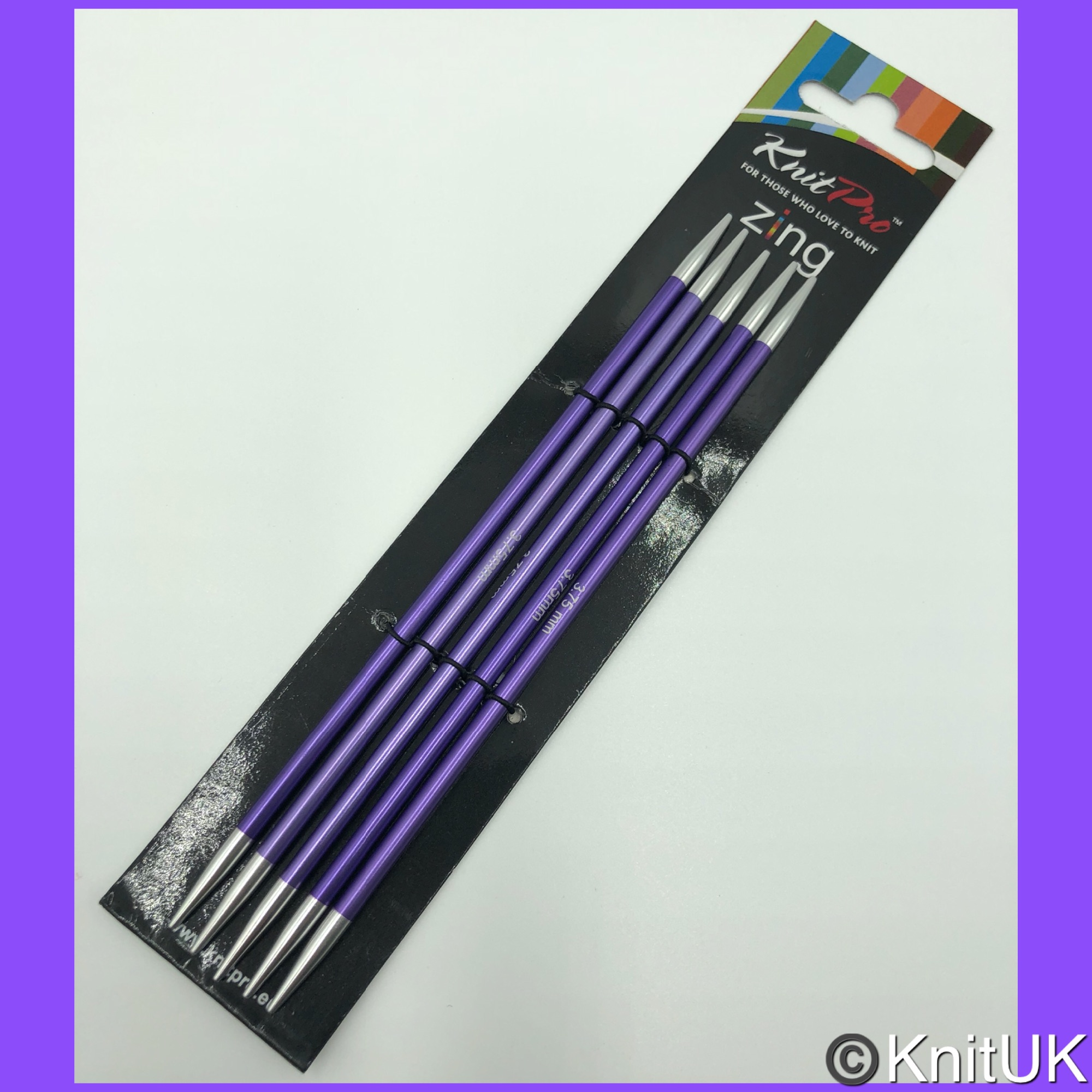 knitpro zing 15cm double point knitting needles set 5 Package