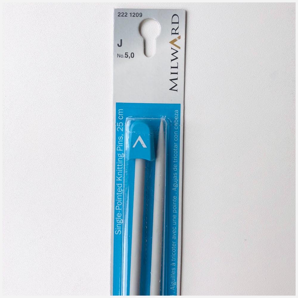 Milward 25cm Single Point Knitting Needles. Aluminium. Price starts at