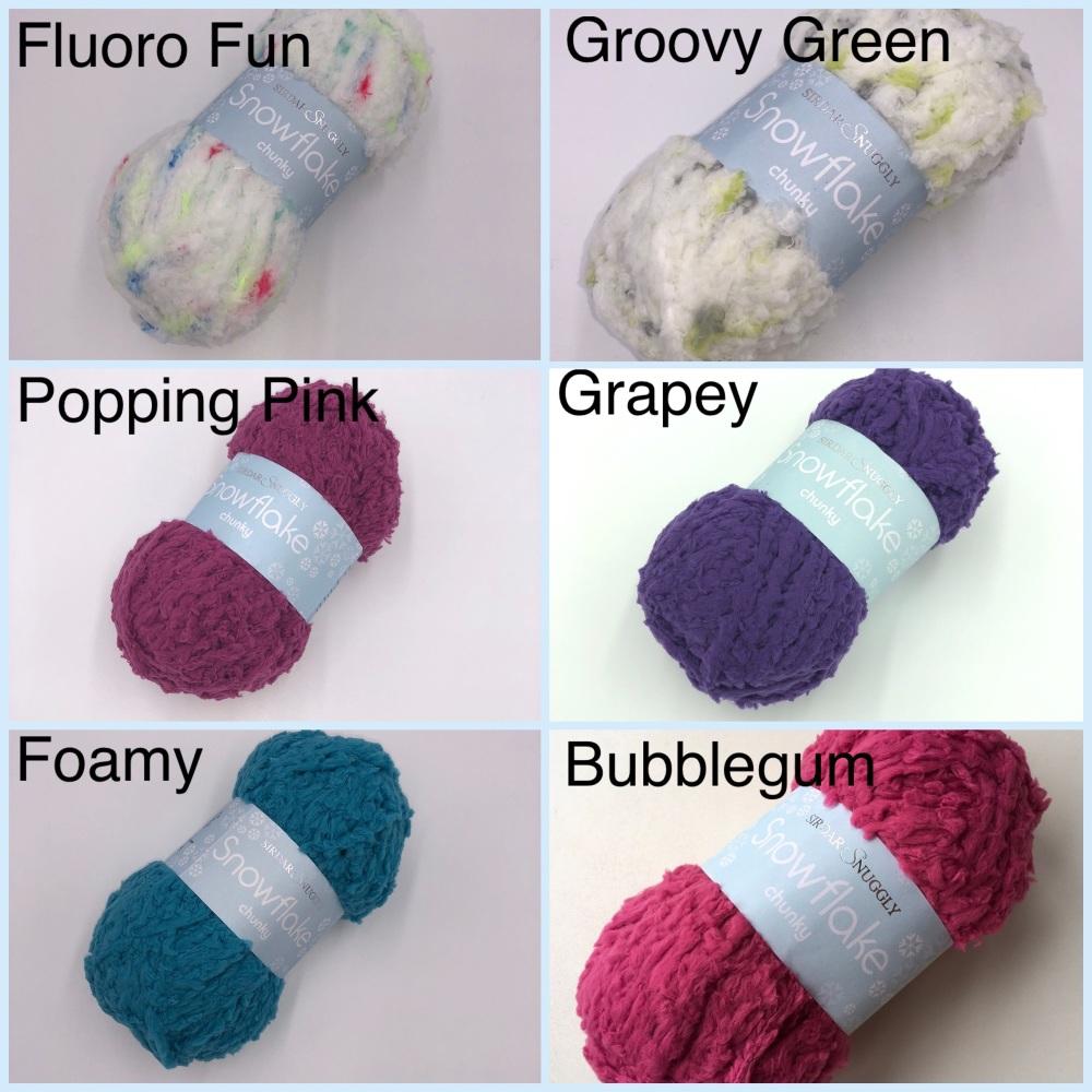 Knituk yarn box sirdar snowflake chunky colour fluoro fun popping pink bubb