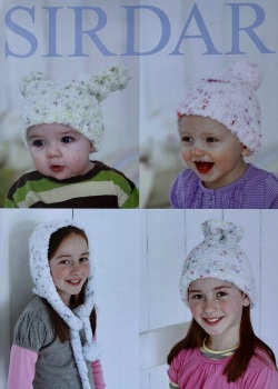 Sirdar pattern: Hats in Sirdar Snuggly Snowflake Chunky. Leaflet 4698 ( Knitting)