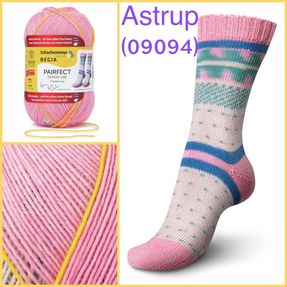 regia pairfect Arne & Carlos 4ply sock yarn astrup color